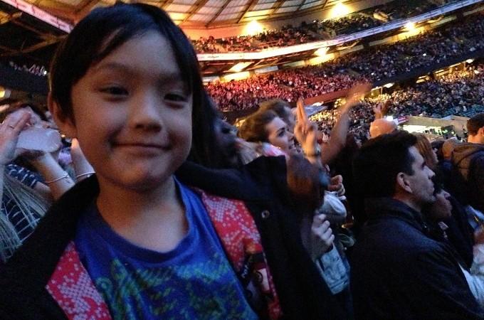 Rihanna concert with David