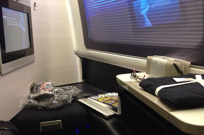 First Class on British Airways – Woohoo!
