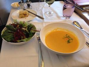 BA First Class meal