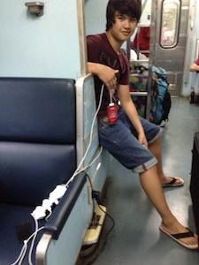 Train charging gadgets