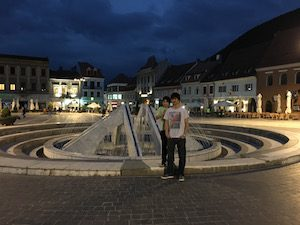Brasov Square at night