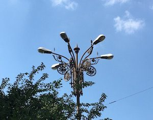 Bucharest lamppost