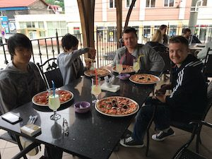 Medias pizza
