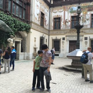 Peles Castle courtyard
